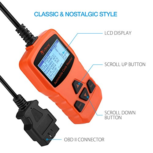 isYoung Vehicle Scan Tool OBD/EOBD CAN Diagnostic Tool 10 Modes OBDII Test + Quick Battery Health Check Engine Scanner for AUDI/VW/SKODA/BENZ/BMW/PORSCHE/GM & Other Car/SUV/Light Duty Vehicle(Orange) by isYoung (Image #3)