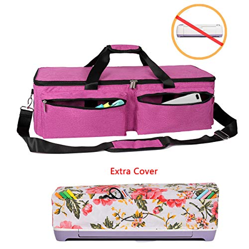 YELAIYEHAO Carrying Bag Compatible with Cricut Explore Air and Maker, Waterproof Tote Bag Compatible with Cricut Explore Air and Supplies (1+1, Pink)