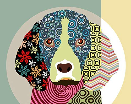 "Beagle Dog Pop Art Print Pet Portrait-8"" x 10"", 11"" x 14"" (UNFRAMED)"