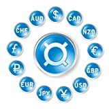 Wallmonkeys Vector round Icons by Marks Rates for Forex Trading Peel and Stick Wall Decals WM288873 (30 in H x 30 in W)