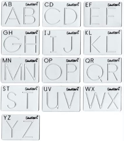 Amazon Com School Rite Alphabet Template Set Uppercase Toys Games