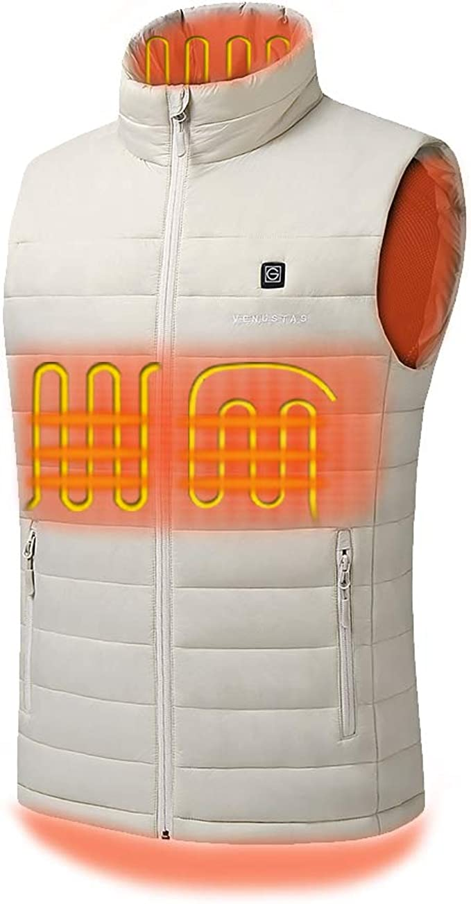 Ororo Men/'s Lightweight Heated Vest with Battery Pack  M