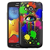 samsung galaxy avant Samsung Galaxy Avant Case, Slim Fit Snap On Cover by Trek Bats on Black Case