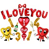 Wedding Anniversary Propose Balloon Decoration I LOVE YOU Lifetime Gessppo