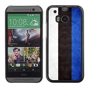 TopCaseStore / la caja del caucho duro de la cubierta de protección de la piel - Estonia Grunge Flag - HTC One M8