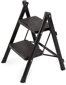 Escalera plegable Pasos 2/3 Pasos metal Escalera, Estructura de escalera cubierta Tienda de doble finalidad de escalera de tijera de Hogares de heces Multifuncional: Amazon.es: Bricolaje y herramientas