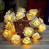 10pcs rose flower LED Fairy String Lights Lighting Christmas Xmas Party Decor valentine gift shine rose