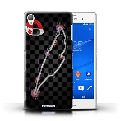 Kobalt® Imprimé Etui / Coque pour Sony Xperia Z3 / Canada/Montréal conception / Série 2014 F1 Piste