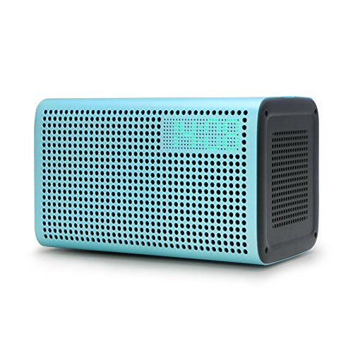 GGMM E3 Wireless Bluetooth Speaker, Multi Room Play Wifi Speaker with LED Clock, Alarm Setting, USB Charging Port, Stereo Sound Airplay Speaker (Blue)