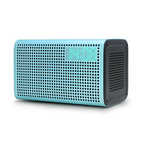 GGMM E3 Wireless Bluetooth Speaker, Multi Room Play Wifi Speaker with LED Clock, Alarm Setting, USB Charging Port, Stereo Sound Airplay Speaker (Blue)