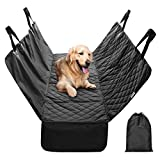 Finether Dog Seat Cover Car Seat Cover for Pets Pet Seat Cover Hammock Quilted Scratch Proof Waterproof Nonslip Backing Dogs Rear Seat Cover with Side Flaps Seat Belt Openings for Cars Trucks Suvs Review
