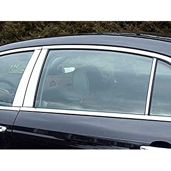 Made in USA Works with 1997-2003 Chevrolet Malibu 6 PC Stainless Steel Chrome Pillar Post Trim