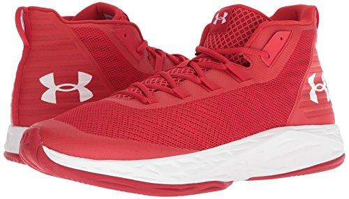Armour Rojo Ua Jet Under De Baloncesto red Hombre Mid Zapatos white Para RqaWdW