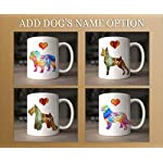 Tibetan Terrier Dog Breed Mug by Artist Dan Morris, Personalize with Dog Name, Two Sizes 9