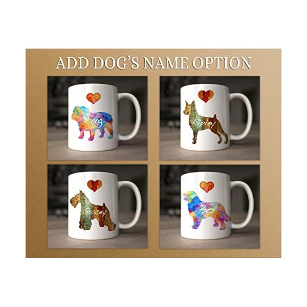 Tibetan Terrier Dog Breed Mug by Artist Dan Morris, Personalize with Dog Name, Two Sizes 4