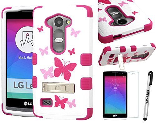 promo code 8dc11 346cd LG RISIO CASE, Phonelicious LG RISIO (Cricket) Xtreme Heavy Duty Hybrid  Armor Dual Layer Rhino Kickstand Rugged Cover + LCD Protector & Stylus ...