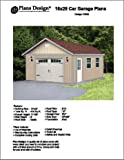 16' X 28' Car Garage/workshop Project Plans -Design #51628