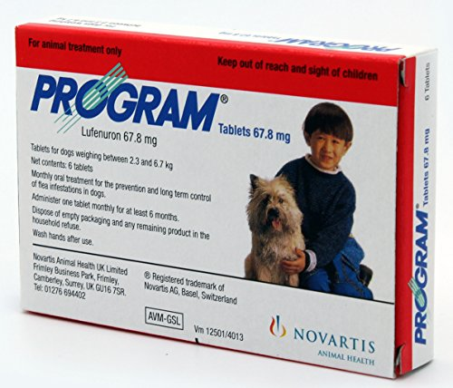 Program for Small Dogs - Red 6 X 67.8mg Tablets (Program Flea Treatment)