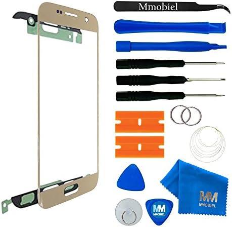MMOBIEL Reemplazo de vidrio frontal Compatible con Samsung Galaxy S7 G930 (Gold) Pantalla Pantalla táctil con kit de herramientas