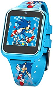 Sonic the Hedgehog Touch-Screen Smartwatch, Built in Selfie-Camera, Non-Toxic, Easy-to-Buckle Strap, Blue Smar