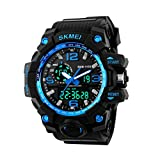 Men's Analogue 50M Waterproof LCD Back Light Electronic Sport Military Digital Multifunctional Watch