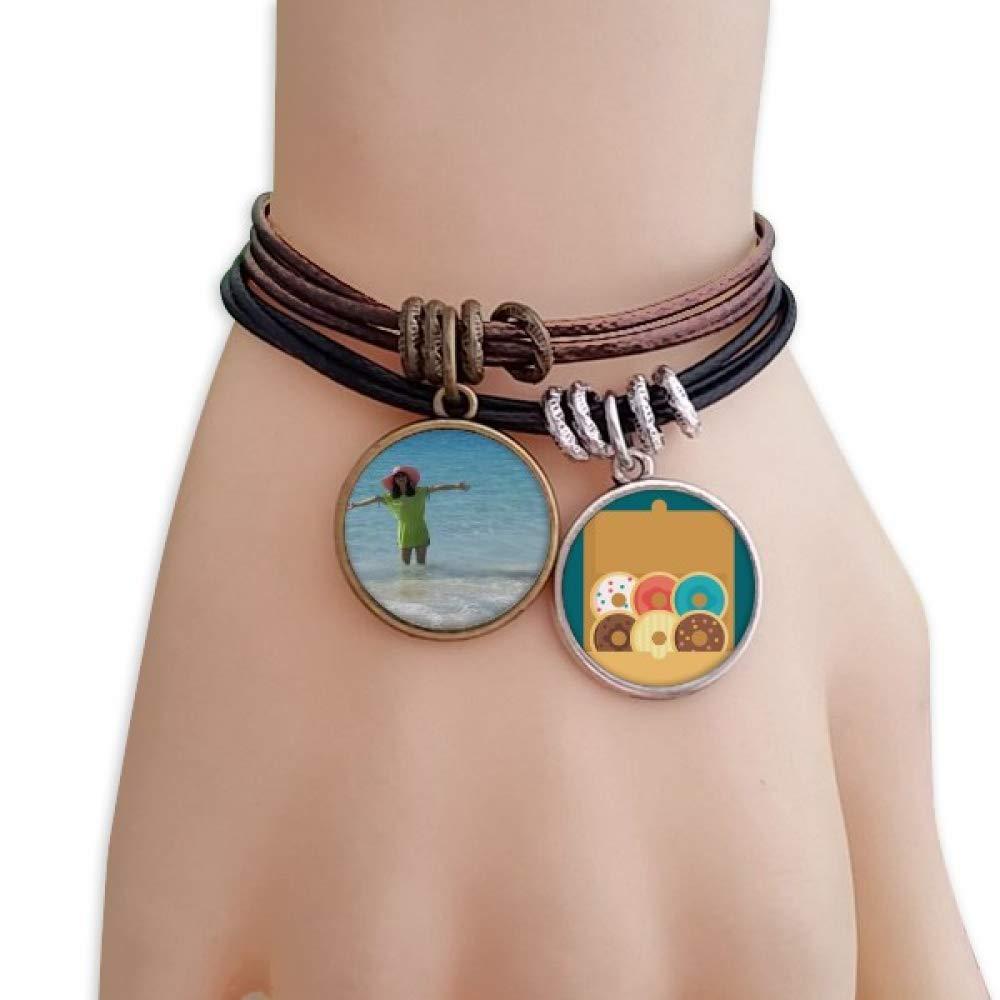 Beach Wave Sea Ellie Yao Beautiflu Girl Bracelet Rope Doughnut Wristband