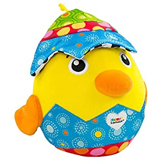 LAMAZE - Hatching Henry Toy, Help Baby Play Peekaboo, Learn with Touch and Sound with Fun Sounds, Bright Colors, and Interesting Textures, 6 Months and Older