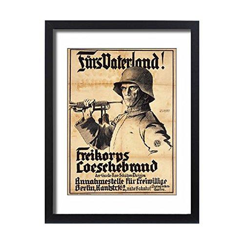 Framed 24x18 Print of German First World War poster