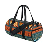 African Art Tribal Print Travel Duffel Shoulder Bag ,Sports Gym Fitness Bags