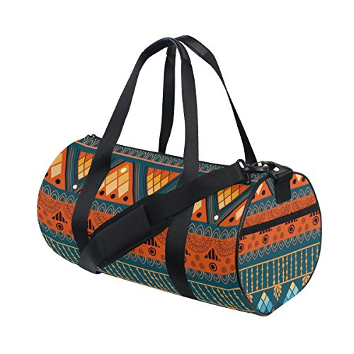 African Art Tribal Print Travel Duffel Shoulder Bag ,Sports Gym Fitness Bags by super3Dprinted