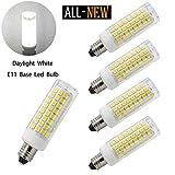 75w type a bulb daylight - E11 led bulbs, All-New (102LEDs) Mini Dimmable Candelabra Base, T4 /T3 JD Type Clear E11 light bulbs,7.5 Watt, 75W 100W halogen bulbs replacement,850 lumens, 110V, 120V, 130V, Daylight 6000K(4 pack)
