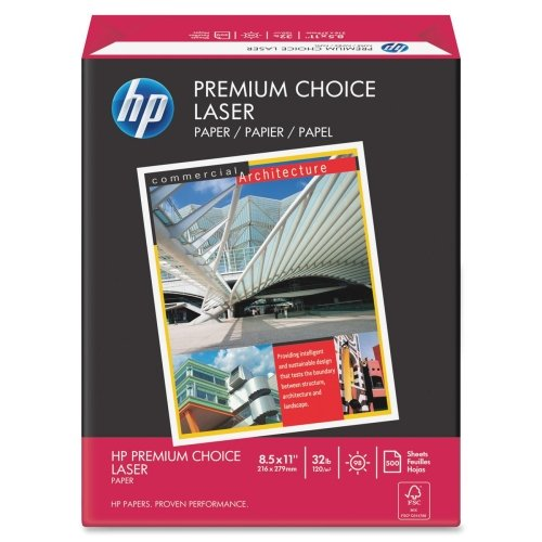 Wholesale CASE of 10 - HP Premium Choice Laser Paper-Laser Paper, 32 lb., 8-1/2''x11'', 98 Bright, 500/RM, White by HEW