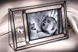 J Devlin Pic 393-46H EP573 Personalized Baby Picture Frame Engraved Glass 4x6 Horizontal Photo Frame
