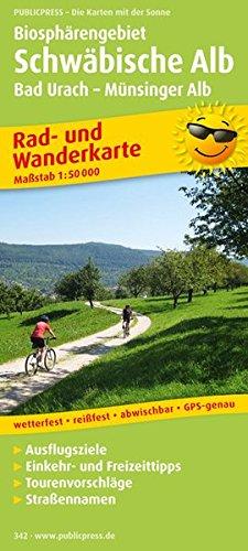 Biosphärengebiet Schwäbische Alb, Bad Urach - Münsinger Alb: Rad- und Wanderkarte mit Ausflugszielen, Einkehr- & Freizeittipps und Stadtplan Bad ... 1:50000 (Rad- und Wanderkarte / RuWK)
