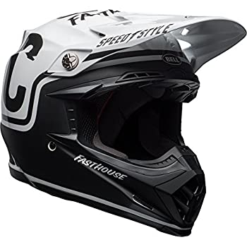 Bell Moto-9 MIPS Fast house Off-Road Motorcycle Helmet (Gloss/Matte Black/White, Small)