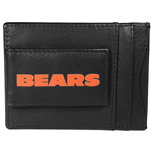 - Siskiyou NFL Chicago Bears Logo Leather Cash and Cardholder, Black
