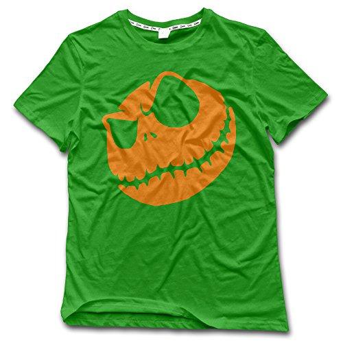 CHALZ Men's Halloween Pumpkin King Logo Crew Neck T Shirt XXL KellyGreen]()