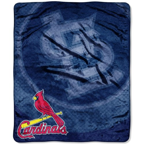 MLB St Louis Cardinals Raschel Plush Throw Blanket, Retro Design