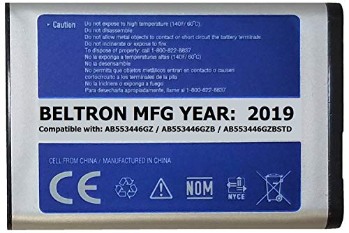 New 1000 mAh BELTRON Replacement Battery for Samsung U310 U340 U350 U410 U430 Verizon Wireless Flip Phone (AB553446GZ AB553446GZB AB553446GZBSTD) ()