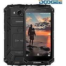 Rugged Smartphone Unlocked, DOOGEE S60 Outdoor Phones - Android 7.0 - 5.2'' FHD Screen - IP68 Waterproof Dustproof Shockproof - Helio P25 Octa-core - 5580mAh - 6GB RAM + 64GB ROM - 8MP+21MP - Black