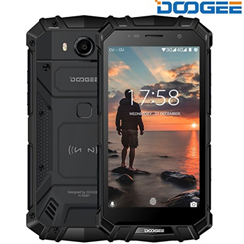 Rugged Smartphone Unlocked, DOOGEE S60 Outdoor Phones - Android 7.0 - 5.2'' FHD Screen - IP68 Waterproof Dustproof Shockproof - Helio P25 Octa-core - 5580mAh - 6GB RAM + 64GB ROM - 8MP+21MP Camera