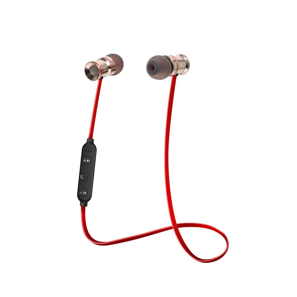 ワイヤレスBluetoothヘッドフォン Bluetooth 4.1防水スポーツイヤホン 2つの携帯電話を同時に接続可能 市場の様々なBluetoothデバイスと互換性あり B07PKBX25D レッド