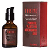 Thrive Natural Beard Oil – Premium Grooming Oil, Facial Hair Tamer, and Beard Conditioner Made with Organic & Unique Natural Ingredients for Healthier Beard and Skin – 1oz/30 ml