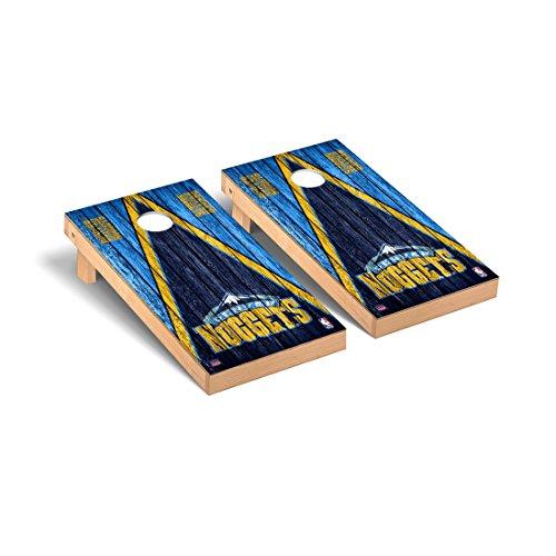Victory Tailgate Denver Den Nuggets NBA Basketball Desktop Cornhole Game Set Triangle Weathered ()