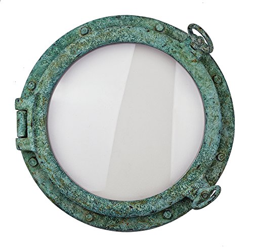 "20"" Realistic Shipwreck Finish Wall Mount Porthole Window by Nautical Tropical Imports"