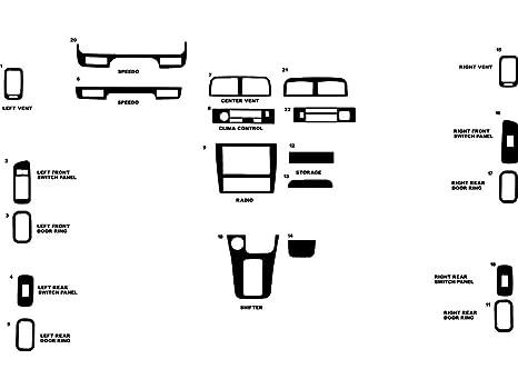 Burlwood Dark Wood Grain Rvinyl Rdash Dash Kit Decal Trim for Toyota Solara 2004-2008