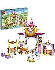 LEGO 43195 Disney-prinsessan Belle och Rapunzels byggleksak för barn i åldern 5 med 2 häst- och minidockfigurer