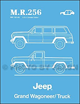 1984 1988 jeep grand wagoneer truck body manual reprint m r 256 rh amazon com 1992 Jeep Wagoneer 1988 jeep grand wagoneer owners manual filetype pdf