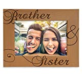 KATE POSH - Brother & Sister Engraved Natural Wood Picture Frame, Siblings Gifts, Wedding Gifts, Little Sister, Little Brother, Big Sister, Big Brother (4x6-Horizontal)