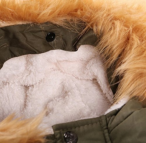 Baby Boy s' Winter Warm Coat Hoodie Parka Outerwear Jacket (18-24Months, Army Green) by VIVIQ (Image #2)